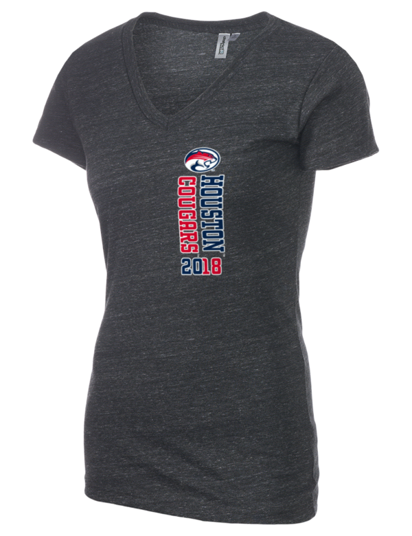 University of houston cougars district women 39 s tri blend v for Texas a m golf shirt