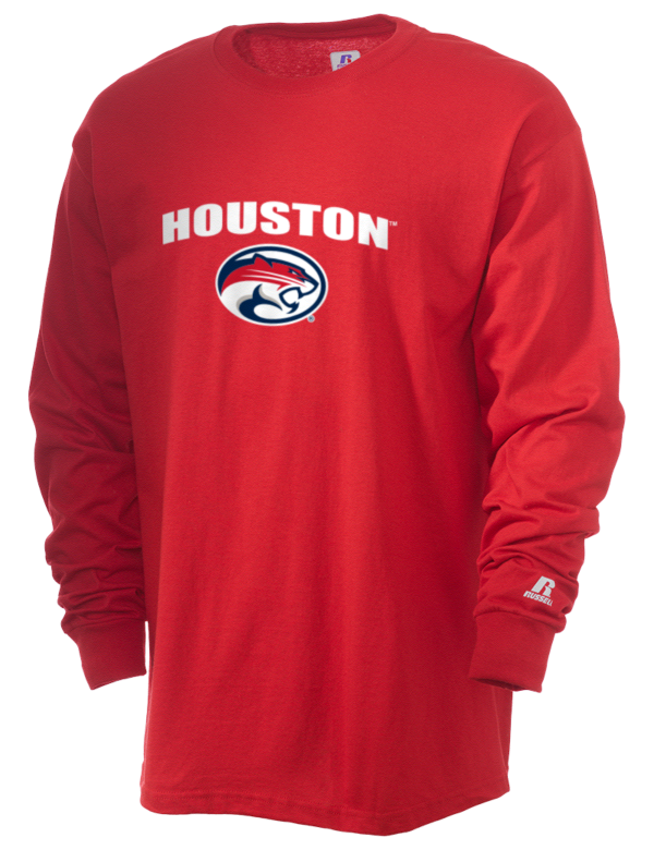 University of houston cougars russell athletic men 39 s long for Texas a m golf shirt