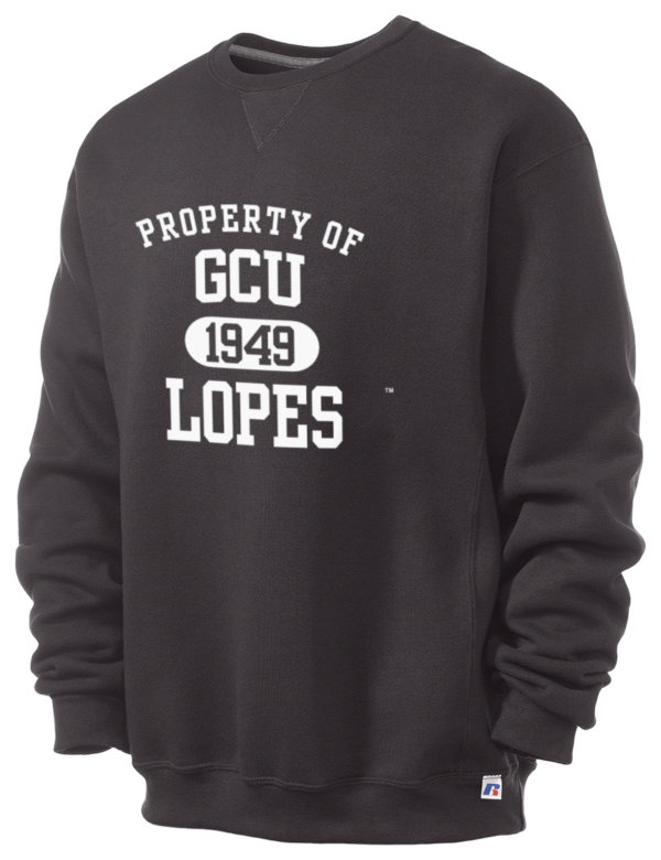 grand canyon university lopes russell athletic men 39 s dri power 9oz crewneck sweatshirt prep. Black Bedroom Furniture Sets. Home Design Ideas