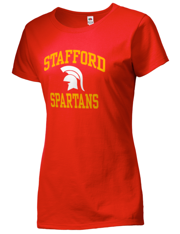 Stafford high school spartans sofspun women 39 s junior fit for Stafford t shirts big and tall