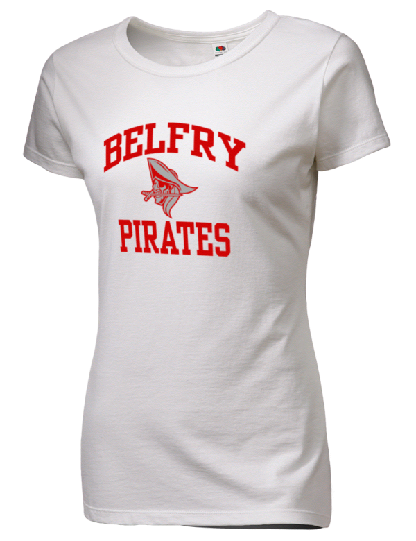 Belfry High School Pirates SofSpun™ Women's Junior Fit 4 ...