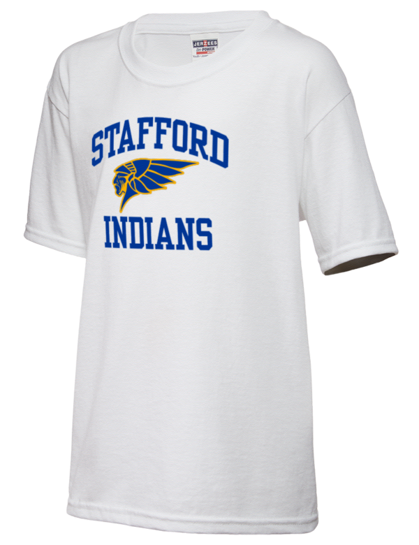 Stafford senior high school indians jerzees dri power for Stafford t shirts big and tall