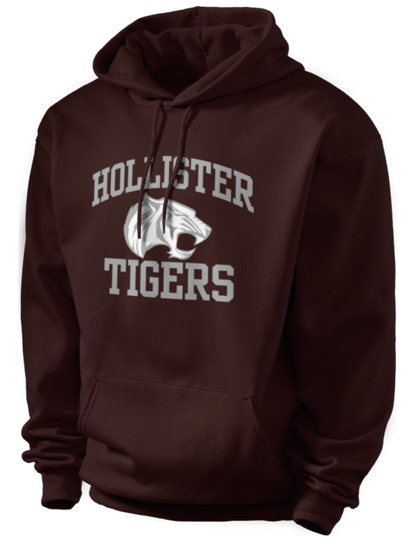 Hollister high school tigers men 39 s 9oz hooded sweatshirt for Hollister live chat