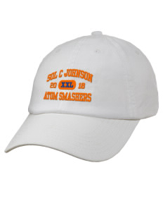 loadanim Sol C Johnson High School Atom Smashers Embroidered Garment Washed Twill Vintage-Style Cap