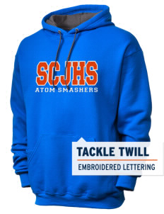 loadanim Sol C Johnson High School Atom Smashers SofSpun™ 7.2oz Unisex Hooded Sweatshirt with Tackle