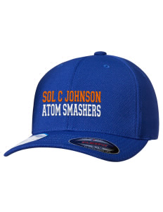 loadanim Sol C Johnson High School Atom Smashers Embroidered Flexfit® Cool & Dry Sport Cap
