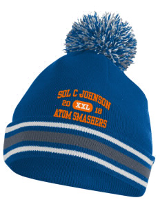 loadanim Sol C Johnson High School Atom Smashers Embroidered Augusta Sportswear Pep It Beanie