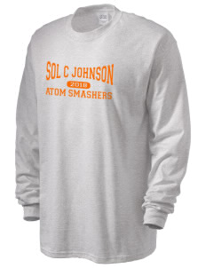 loadanim Sol C Johnson High School Atom Smashers Men's Long Sleeve T-Shirt