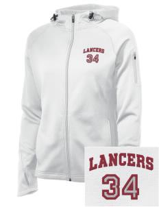 Loadanim Bell Gardens High School Lancers Embroidered Women S Tech Fleece Full Zip Hooded Jacket