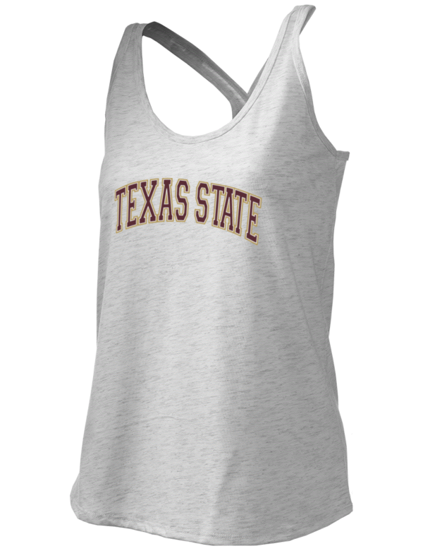 Texas state university bobcats district junior 39 s tri blend for Custom t shirts san marcos tx