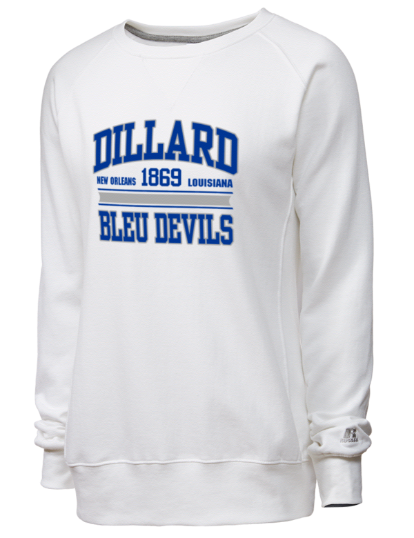 dillard university bleu devils russell athletic women 39 s crewneck sweatshirt prep sportswear. Black Bedroom Furniture Sets. Home Design Ideas