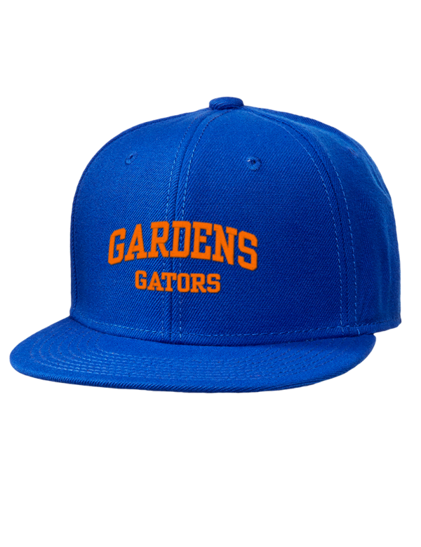 Palm Beach Gardens High School Gators Embroidered Wool Blend Flat Bill Pro Style Snapback Cap