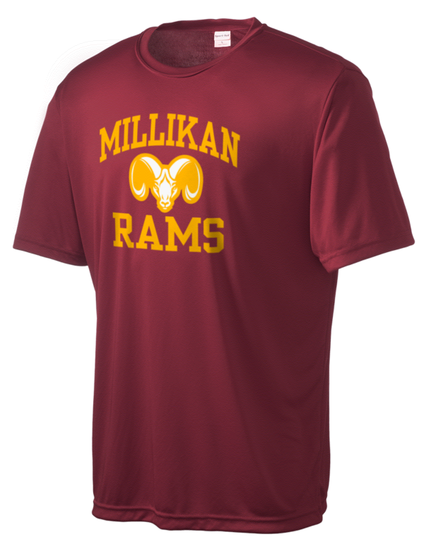 Millikan high school rams men 39 s competitor performance t for Long beach ny shirts