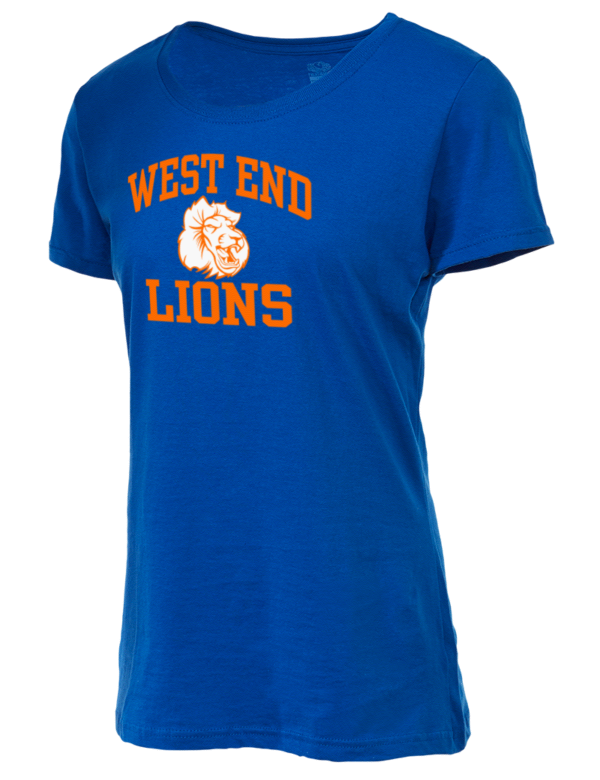West end high school lions fruit of the loom women 39 s 5oz for High end golf shirts