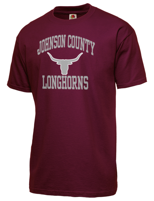 Johnson county high school longhorns fruit of the loom men for T shirts with city names