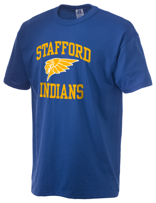 Stafford senior high school indians russell athletic men 39 s for Stafford t shirts big and tall
