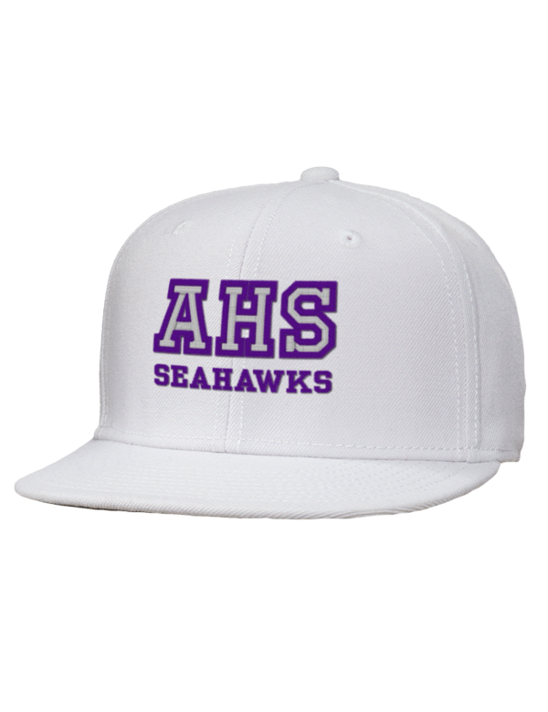 Anacortes high school seahawks embroidered wool blend flat for T shirts by design anacortes