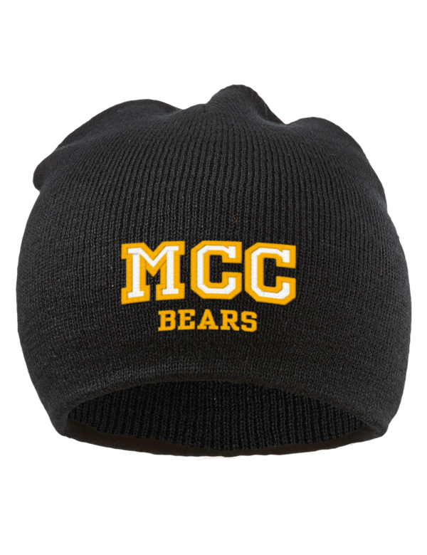 Mott Community College Bears Embroidered Acrylic Beanie ...