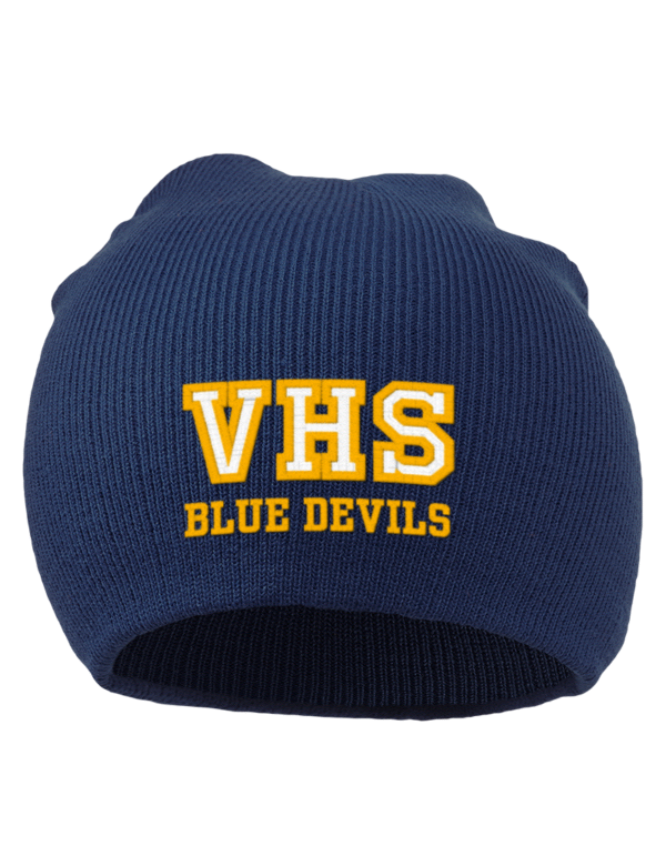 Varina high school blue devils embroidered acrylic beanie