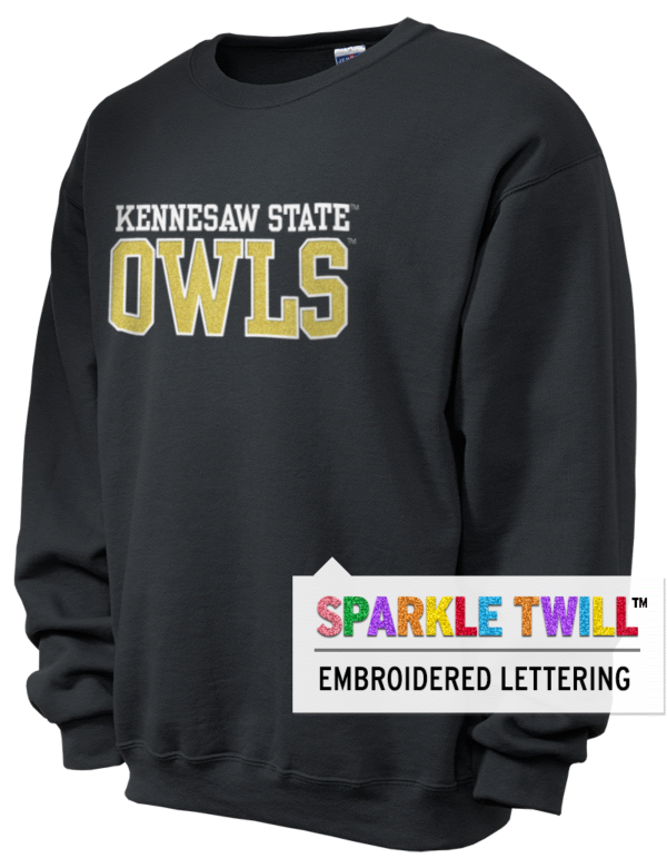 kennesaw state university owls women 39 s sweatshirts applique prep sportswear. Black Bedroom Furniture Sets. Home Design Ideas