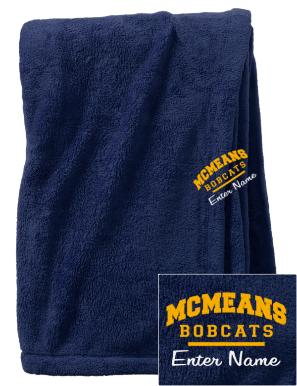 Mcmeans junior high school bobcats embroidered augusta