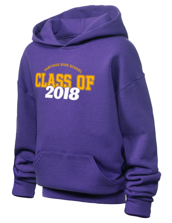 Santiago High School Cavaliers Jerzees Youth Hooded Sweatshirt Prep Sportswear