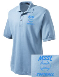 A stylish way to show your support for Men's Shul Softball League. Silky soft and supple for a comfortable fit. Highly wrinkle resistant with a flat knit collar and cuffs, double-needle armholes and bottom hem, and metal buttons with dyed to match rims.