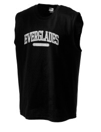 The perfect in-between custom Everglades High School Gators sleeveless crewneck T-Shirt.  The Everglades High School Gators sleeveless tee is preshrunk with double-needle stitching on neck, and hemmed armholes.  Ash color is 99% cotton, 1% polyester.  Sport Grey is 90% cotton, 10% polyester.