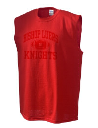 The perfect in-between custom Bishop Luers High School Knights sleeveless crewneck T-Shirt.  The Bishop Luers High School Knights sleeveless tee is preshrunk with double-needle stitching on neck, and hemmed armholes.  Ash color is 99% cotton, 1% polyester.  Sport Grey is 90% cotton, 10% polyester.