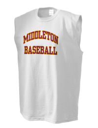 The perfect in-between custom Middleton High School Tigers sleeveless crewneck T-Shirt.  The Middleton High School Tigers sleeveless tee is preshrunk with double-needle stitching on neck, and hemmed armholes.  Ash color is 99% cotton, 1% polyester.  Sport Grey is 90% cotton, 10% polyester.