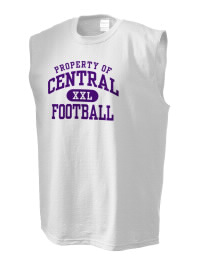 The perfect in-between custom Omaha Central High School Eagles sleeveless crewneck T-Shirt.  The Omaha Central High School Eagles sleeveless tee is preshrunk with double-needle stitching on neck, and hemmed armholes.  Ash color is 99% cotton, 1% polyester.  Sport Grey is 90% cotton, 10% polyester.