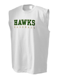 The perfect in-between custom Canyon Lake High School Hawks sleeveless crewneck T-Shirt.  The Canyon Lake High School Hawks sleeveless tee is preshrunk with double-needle stitching on neck, and hemmed armholes.  Ash color is 99% cotton, 1% polyester.  Sport Grey is 90% cotton, 10% polyester.