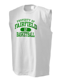 The perfect in-between custom Fairfield High School Knights sleeveless crewneck T-Shirt.  The Fairfield High School Knights sleeveless tee is preshrunk with double-needle stitching on neck, and hemmed armholes.  Ash color is 99% cotton, 1% polyester.  Sport Grey is 90% cotton, 10% polyester.