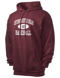 Crafted for comfort, this lighter weight Cheyenne Mountain High School Indians hooded sweatshirt is perfect for relaxing and it's a real value for a sportswear hoody. A must have for the serious Cheyenne Mountain High School Indians apparel and merchandise collection. 50/50 cotton/poly fleece hoodie with two-ply hood, dyed-to-match drawcord, set-in sleeves, and front pouch pocket round out the features of a Indians hooded sweatshirt.