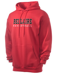 Crafted for comfort, this lighter weight Bellaire Middle School Big Reds hooded sweatshirt is perfect for relaxing and it's a real value for a sportswear hoody. A must have for the serious Bellaire Middle School Big Reds apparel and merchandise collection. 50/50 cotton/poly fleece hoodie with two-ply hood, dyed-to-match drawcord, set-in sleeves, and front pouch pocket round out the features of a Big Reds hooded sweatshirt.