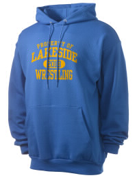 Crafted for comfort, this lighter weight Lakeside Senior High School Rams hooded sweatshirt is perfect for relaxing and it's a real value for a sportswear hoody. A must have for the serious Lakeside Senior High School Rams apparel and merchandise collection. 50/50 cotton/poly fleece hoodie with two-ply hood, dyed-to-match drawcord, set-in sleeves, and front pouch pocket round out the features of a Rams hooded sweatshirt.
