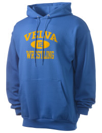 Crafted for comfort, this lighter weight Velva School Aggies hooded sweatshirt is perfect for relaxing and it's a real value for a sportswear hoody. A must have for the serious Velva School Aggies apparel and merchandise collection. 50/50 cotton/poly fleece hoodie with two-ply hood, dyed-to-match drawcord, set-in sleeves, and front pouch pocket round out the features of a Aggies hooded sweatshirt.