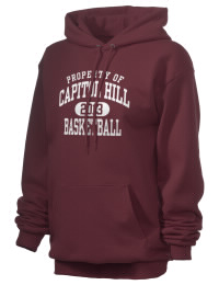 Crafted for comfort, this lighter weight Capitol Hill High School Redskins hooded sweatshirt is perfect for relaxing and it's a real value for a sportswear hoody. A must have for the serious Capitol Hill High School Redskins apparel and merchandise collection. 50/50 cotton/poly fleece hoodie with two-ply hood, dyed-to-match drawcord, set-in sleeves, and front pouch pocket round out the features of a Redskins hooded sweatshirt.