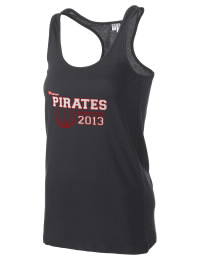 The Poteau High School Pirates District Threads Racerback Tank is semi-fitted for a flattering look and perfect for layering. Racerback detail lends casual, athletic style.