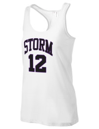 The Notre Dame De Sion Preparatory School Storms District Threads Racerback Tank is semi-fitted for a flattering look and perfect for layering. Racerback detail lends casual, athletic style.