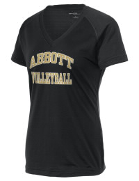 The Ladies Ultimate Performance V-Neck ABBOTT HIGH SCHOOL PANTHERS tee is perfect for your active lifestyle.  The V-neck performance t-shirt is made with moisture wicking fabric and has a soft, cotton-like feel. This layerable ABBOTT HIGH SCHOOL PANTHERS V-neck tee is sure to become a favorite on and off the court.