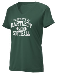 The Ladies Ultimate Performance V-Neck Bartlett High School Indians tee is perfect for your active lifestyle.  The V-neck performance t-shirt is made with moisture wicking fabric and has a soft, cotton-like feel. This layerable Bartlett High School Indians V-neck tee is sure to become a favorite on and off the court.