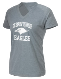 The Ladies Ultimate Performance V-Neck Egg Harbor Township Middle School Eagles tee is perfect for your active lifestyle.  The V-neck performance t-shirt is made with moisture wicking fabric and has a soft, cotton-like feel. This layerable Egg Harbor Township Middle School Eagles V-neck tee is sure to become a favorite on and off the court.
