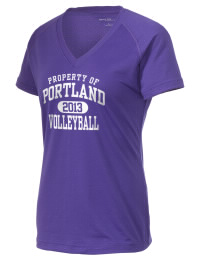 The Ladies Ultimate Performance V-Neck Portland High School Panthers tee is perfect for your active lifestyle.  The V-neck performance t-shirt is made with moisture wicking fabric and has a soft, cotton-like feel. This layerable Portland High School Panthers V-neck tee is sure to become a favorite on and off the court.