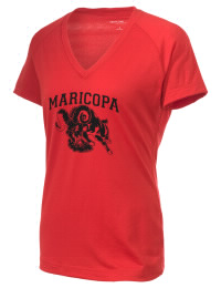 The Ladies Ultimate Performance V-Neck Maricopa High School Rams tee is perfect for your active lifestyle.  The V-neck performance t-shirt is made with moisture wicking fabric and has a soft, cotton-like feel. This layerable Maricopa High School Rams V-neck tee is sure to become a favorite on and off the court.