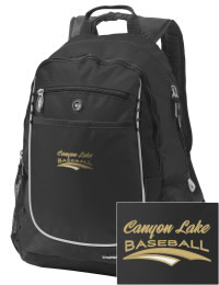 A go-anywhere Canyon Lake High School Hawks backpack design in a streamlined size that's engineered to hold all the essentials in place. Convenient dual-side mesh water bottle pockets, and front pocket with organizer panel. Great for Canyon Lake High School Hawks fan gear.