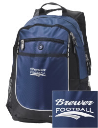 A go-anywhere Brewer High School Bears backpack design in a streamlined size that's engineered to hold all the essentials in place. Convenient dual-side mesh water bottle pockets, and front pocket with organizer panel. Great for Brewer High School Bears fan gear.