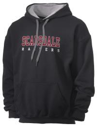 Scarsdale High School Raiders Gildan Men's 7.75 oz Contrast Hooded Sweatshirt