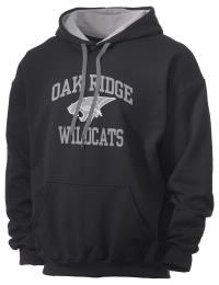 Oak Ridge High School Wildcats Gildan Men's 7.75 oz Contrast Hooded Sweatshirt