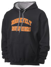 Theodore Roosevelt Senior High School Rough Riders Gildan Men's 7.75 oz Contrast Hooded Sweatshirt